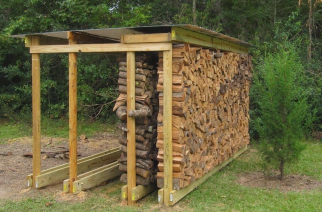 Backyard Rustic House Design Diy Covered Firewood Indoor Firewood Rack