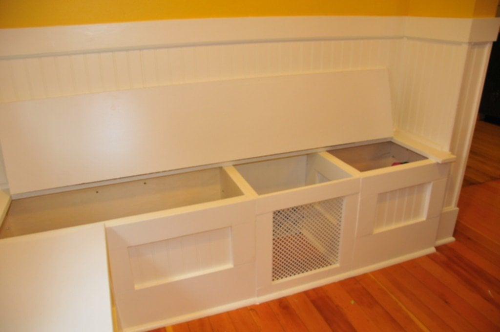 Diy Custom Kitchen Nook Storage Bench Ferris Built Creative Corner Kitchen Table