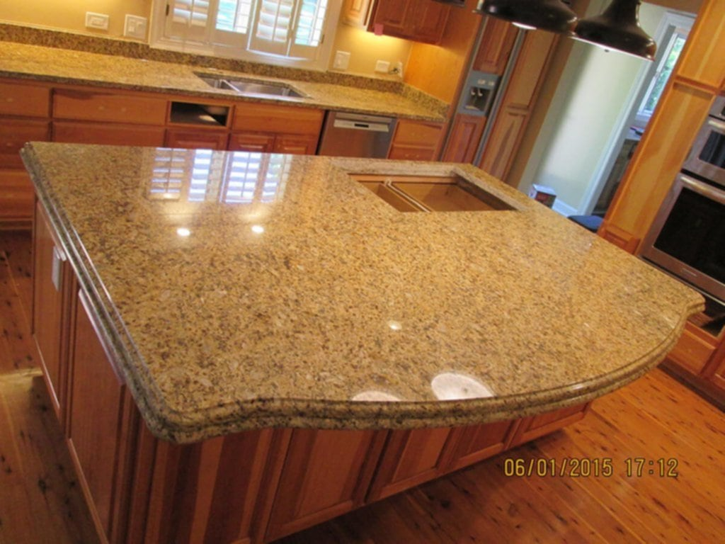 Granite Kitchen Countertop Island Crafted Countertop Ideas For Granite Countertop Edges