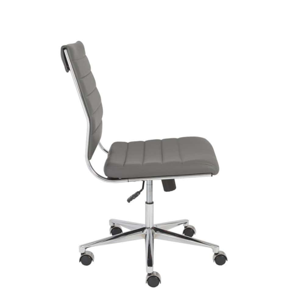Gray Armless Office Chairs