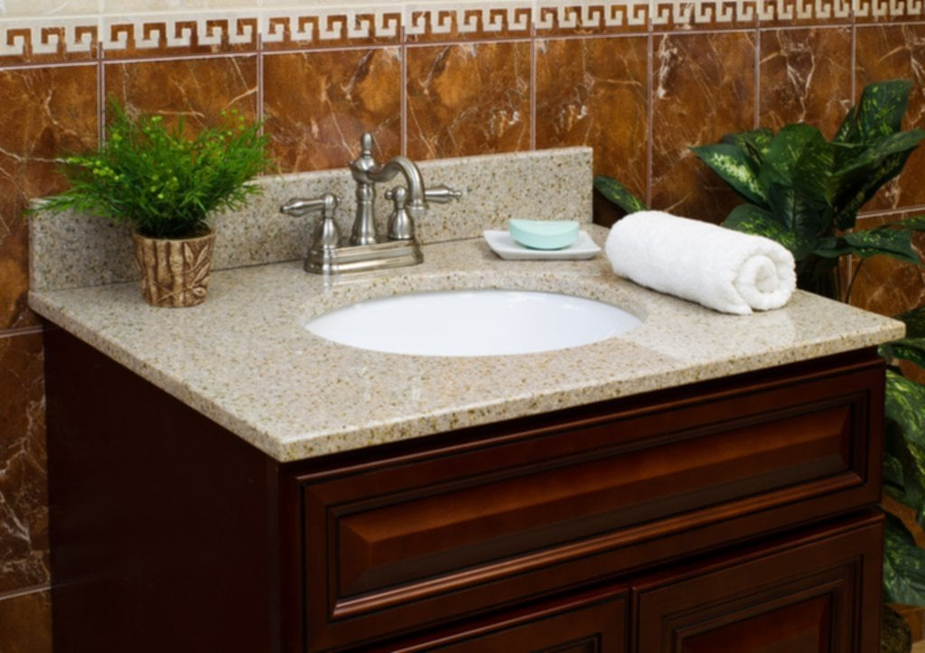 Lesscare Gt Bathroom Gt Vanity Top Gt Granite Top Gt Wheat Vanity Granite Top Ideas For Tile Counter Top Kitchen