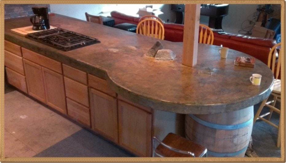 Stained Concrete Countertops Diy