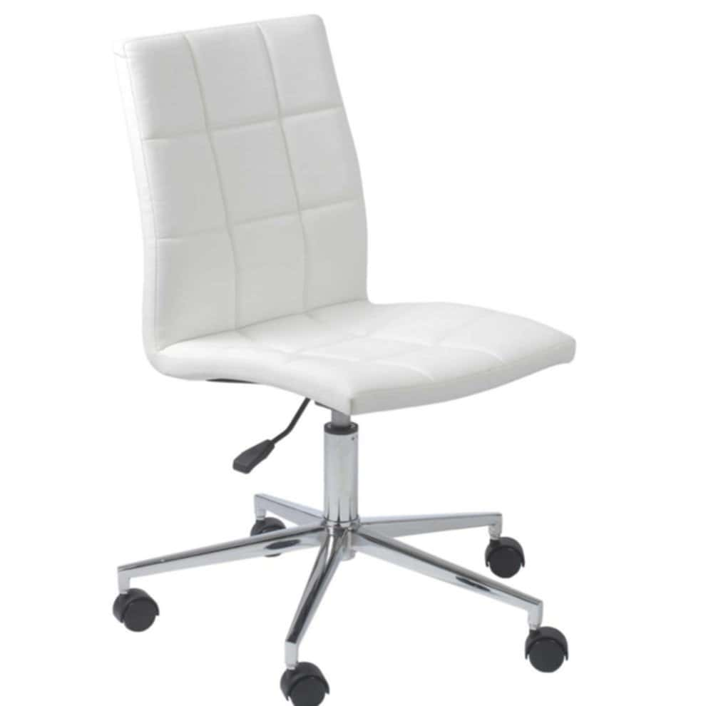 White Armless Office Chairs