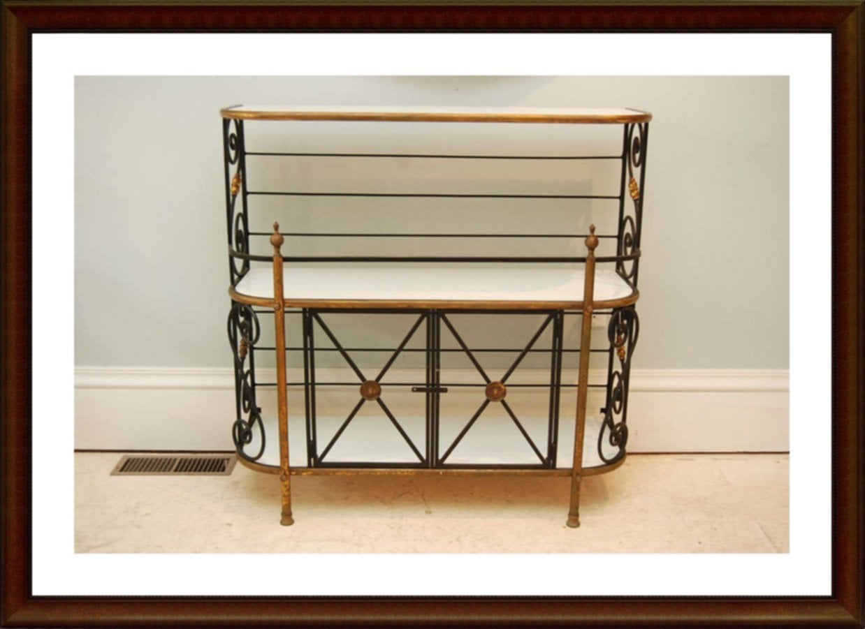 Wrought Iron Bakers Rack Outdoor