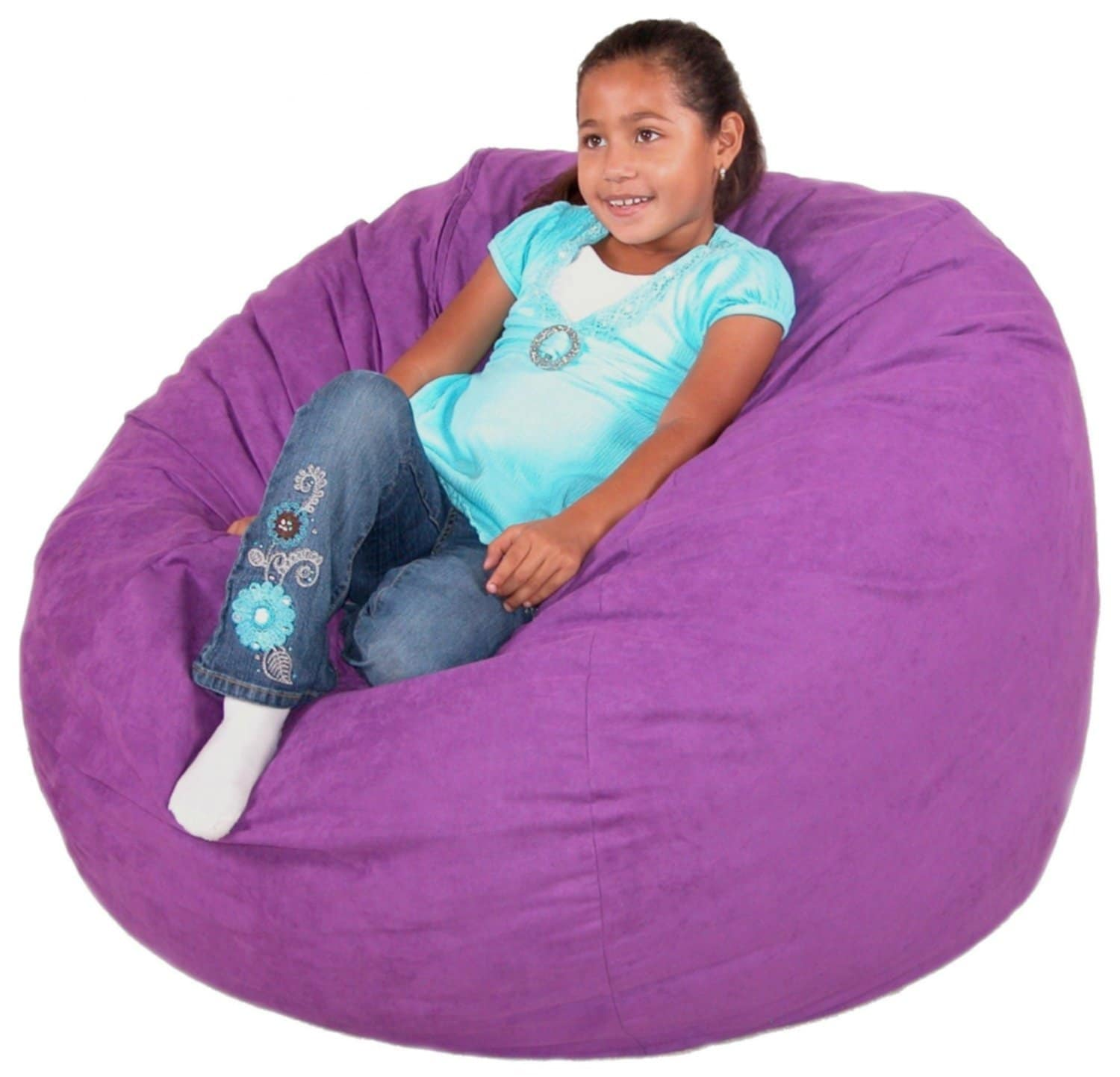 Cozy Purple Bean Bags Chairs