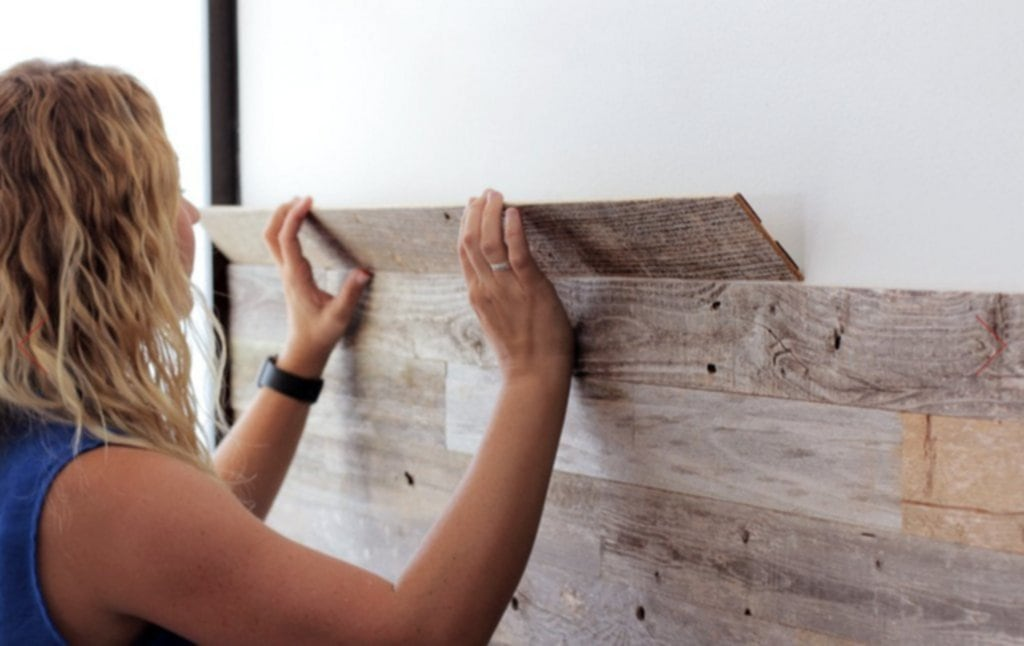 Diy Reclaimed Barn Wood Wall Peel Stick Apply Special Wood Paneling For Walls
