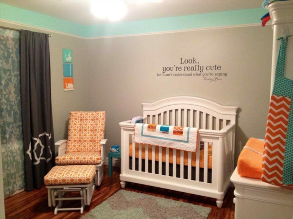 Gender Neutral Nursery Picture Sofa Cope Moroccan Pouf Ideas