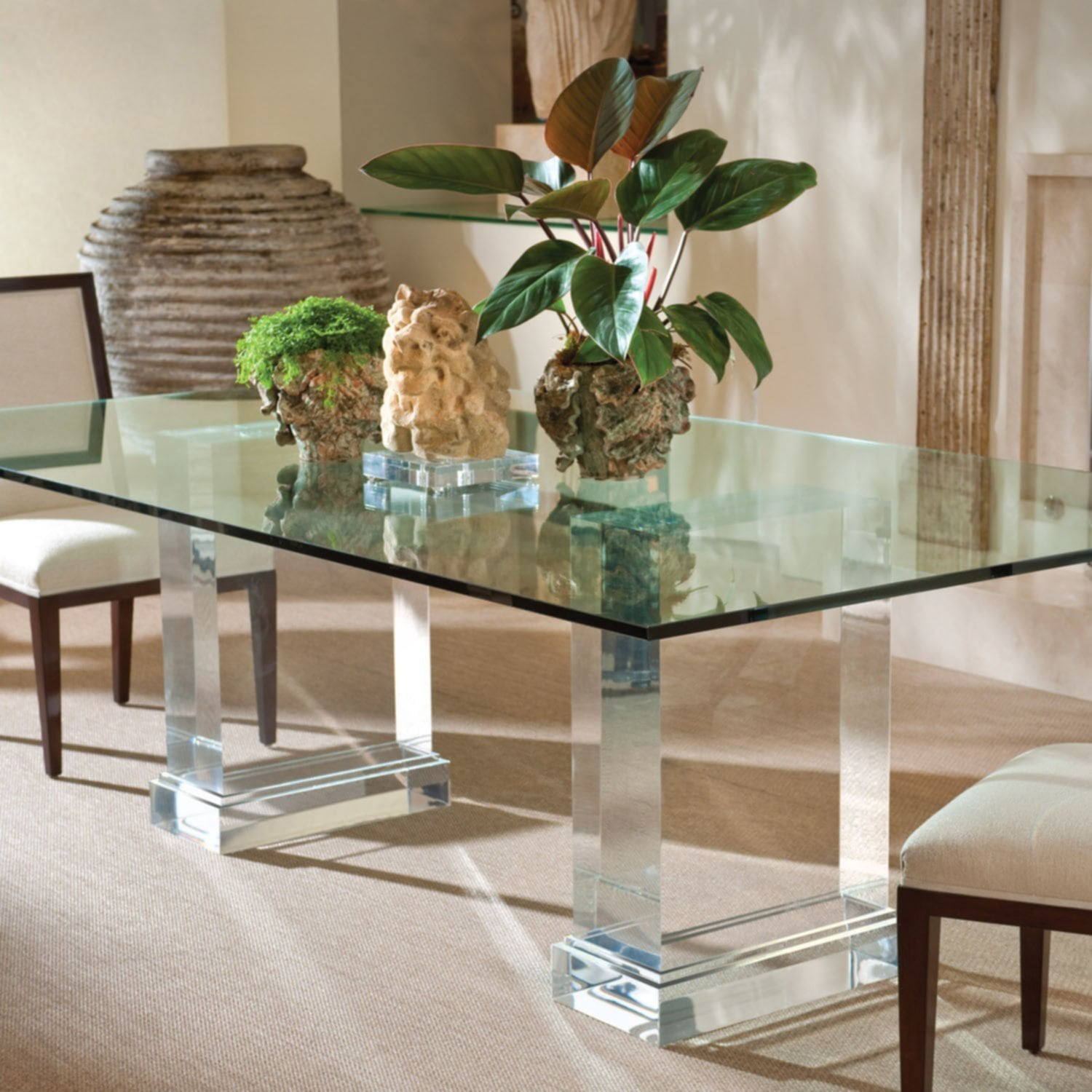 Glass Acrylic Dining Table