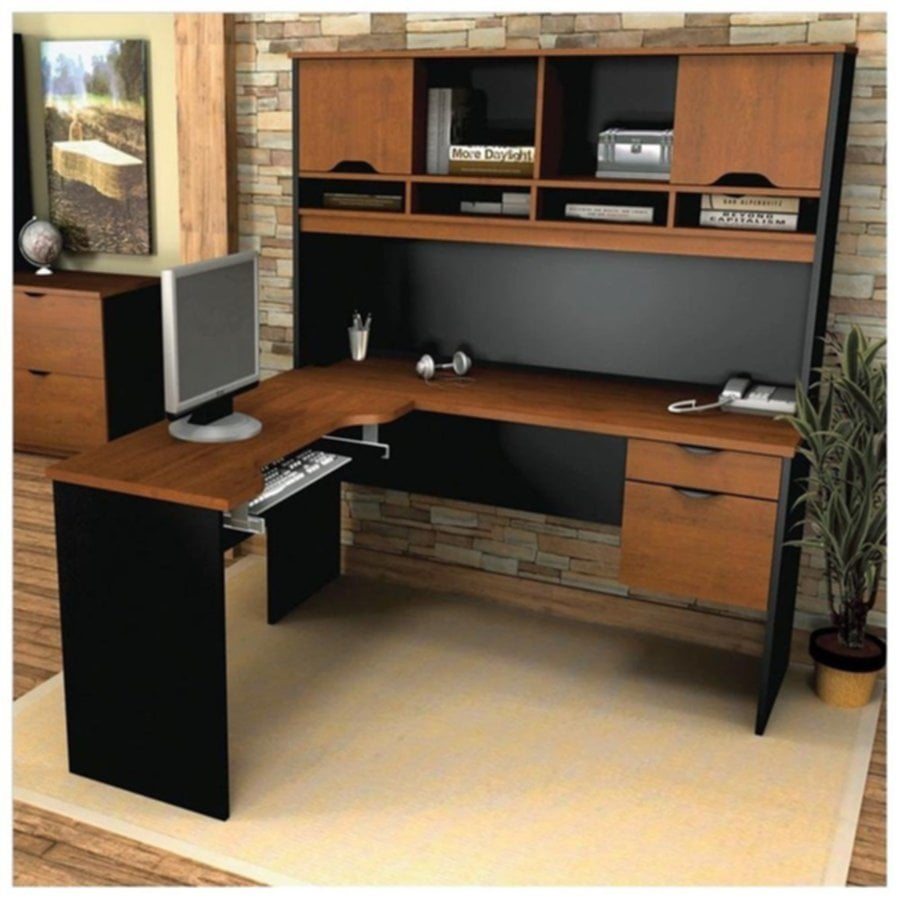 L Shaped Computer Desk With Office Hutch