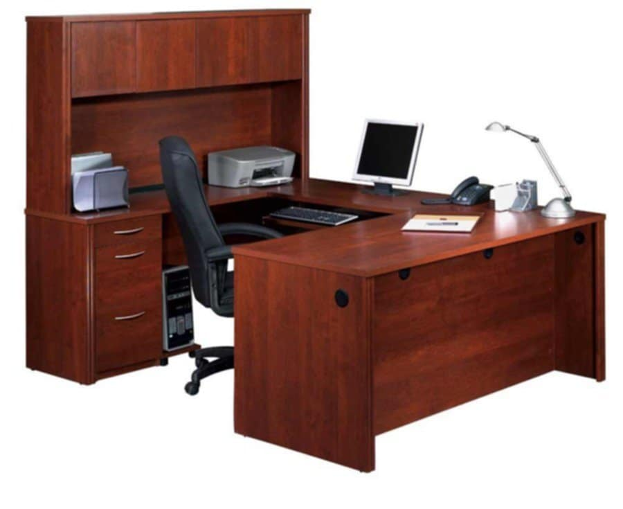 L Shaped Office Desk With Office Hutch