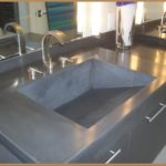 Poured Cement Countertops