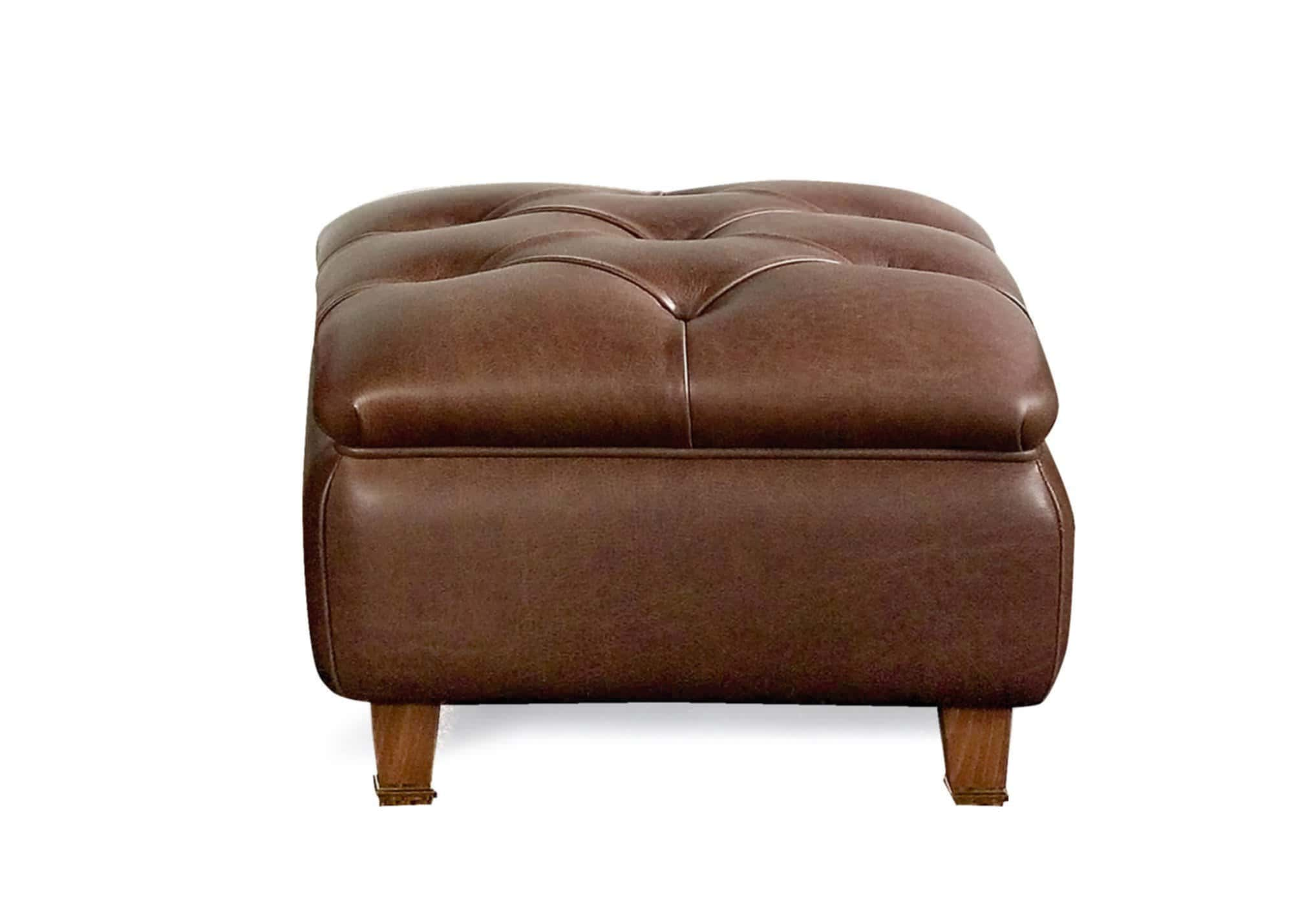 Traditional Leather Poufs