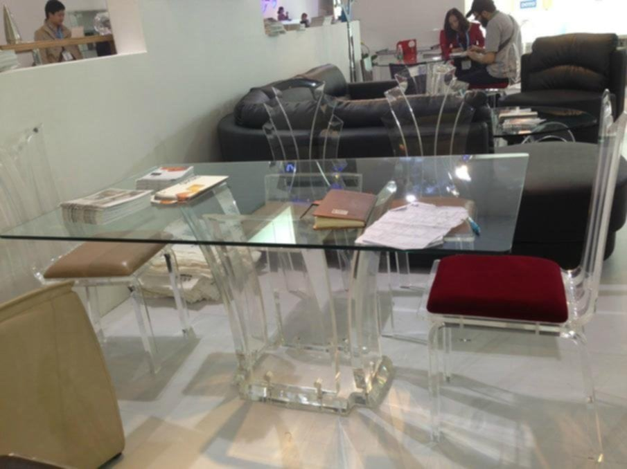 Transparent Acrylic Dining Table