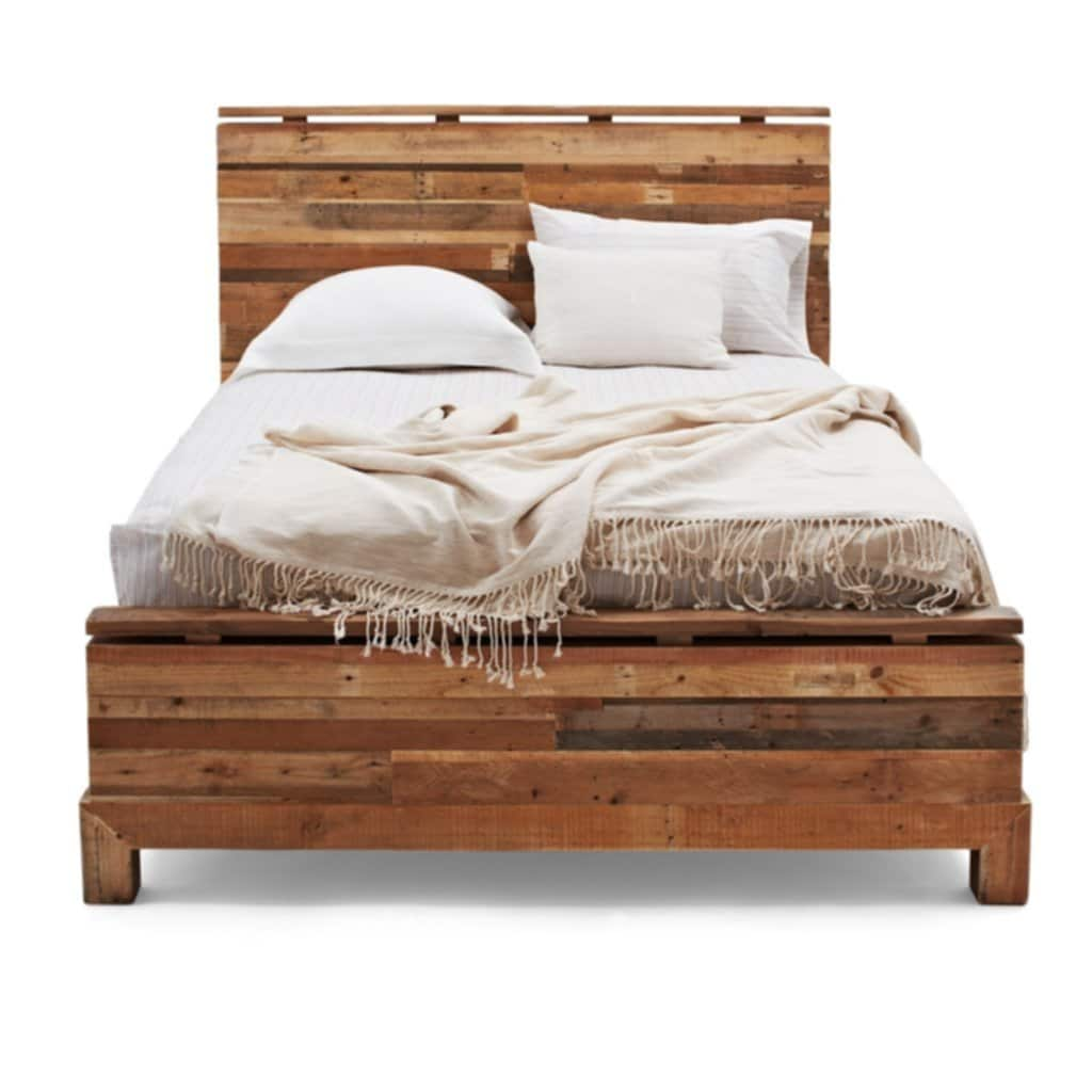 Bedroom Reclaimed Wood Queen Size Bed Frame Tall Platform Bed Frame Queen