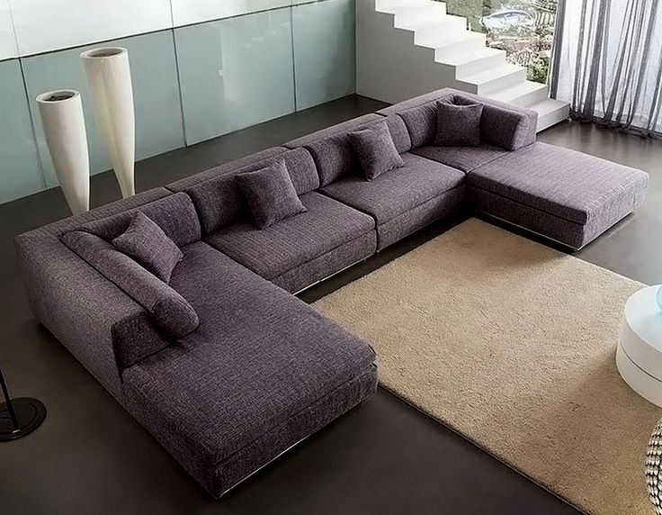 Country U-Shaped Sectional Sofa
