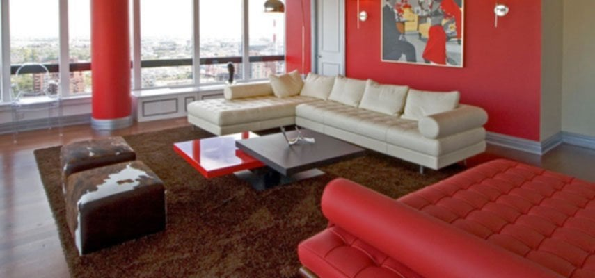 Elegant Red Living Room Ideas