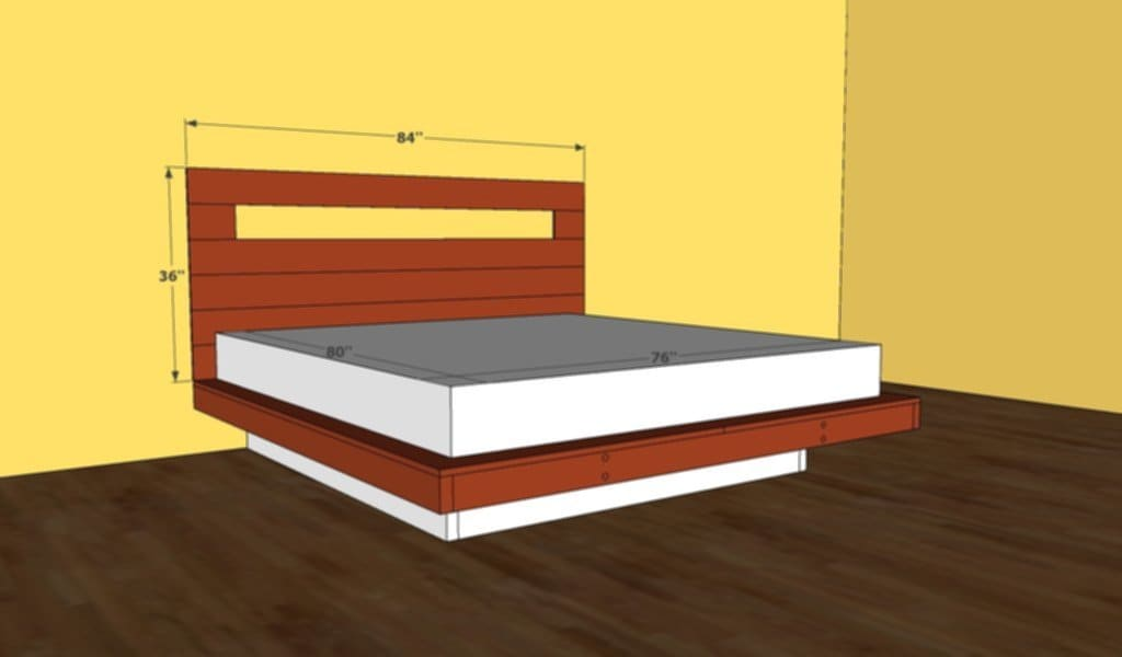 King Bed Frame Plan Bed Plan Diy Blueprint Platform Bed Frame Queen
