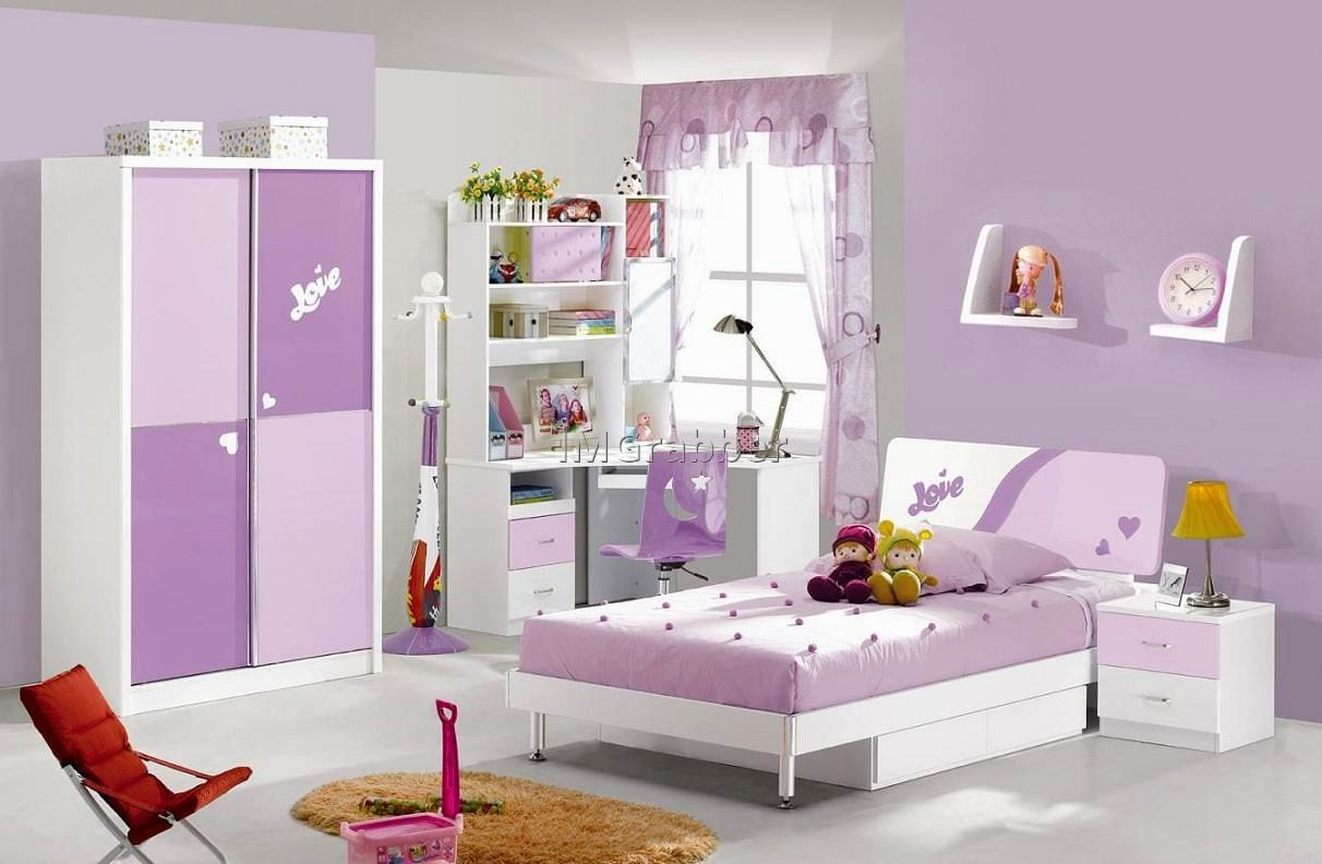Purple Kids Modern Bedroom Furniture