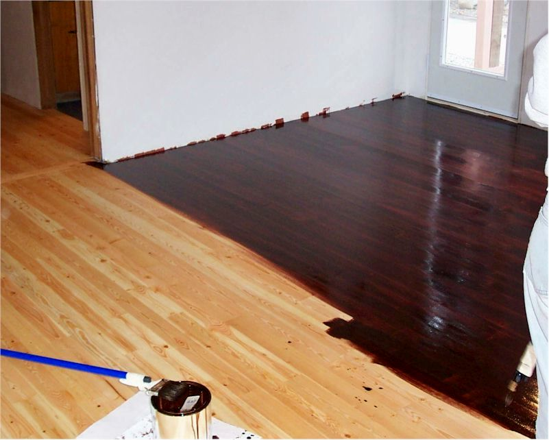Staining Old Wood Floors