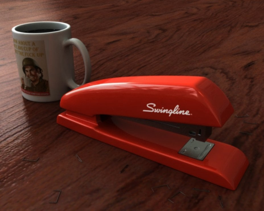YouTube Office Space Red Stapler