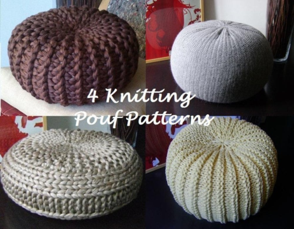 4 Knitted Pouf Floor Cushion Pattern Tutorial Pouffe Floor Pouf The Best Ideas For Decor