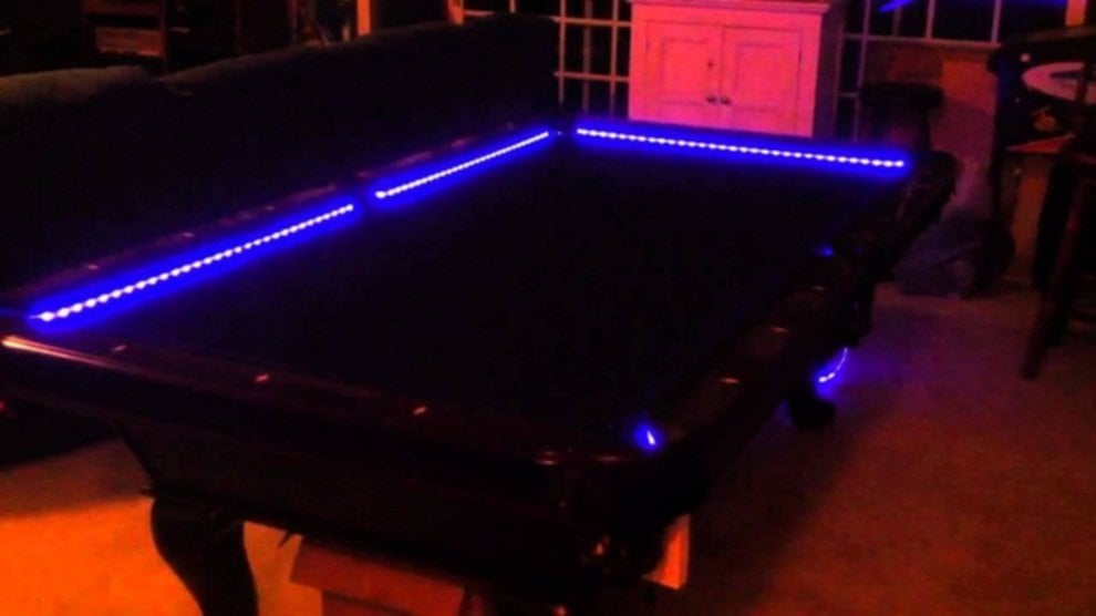 Modern Pool Tables With Blue Led Lighting