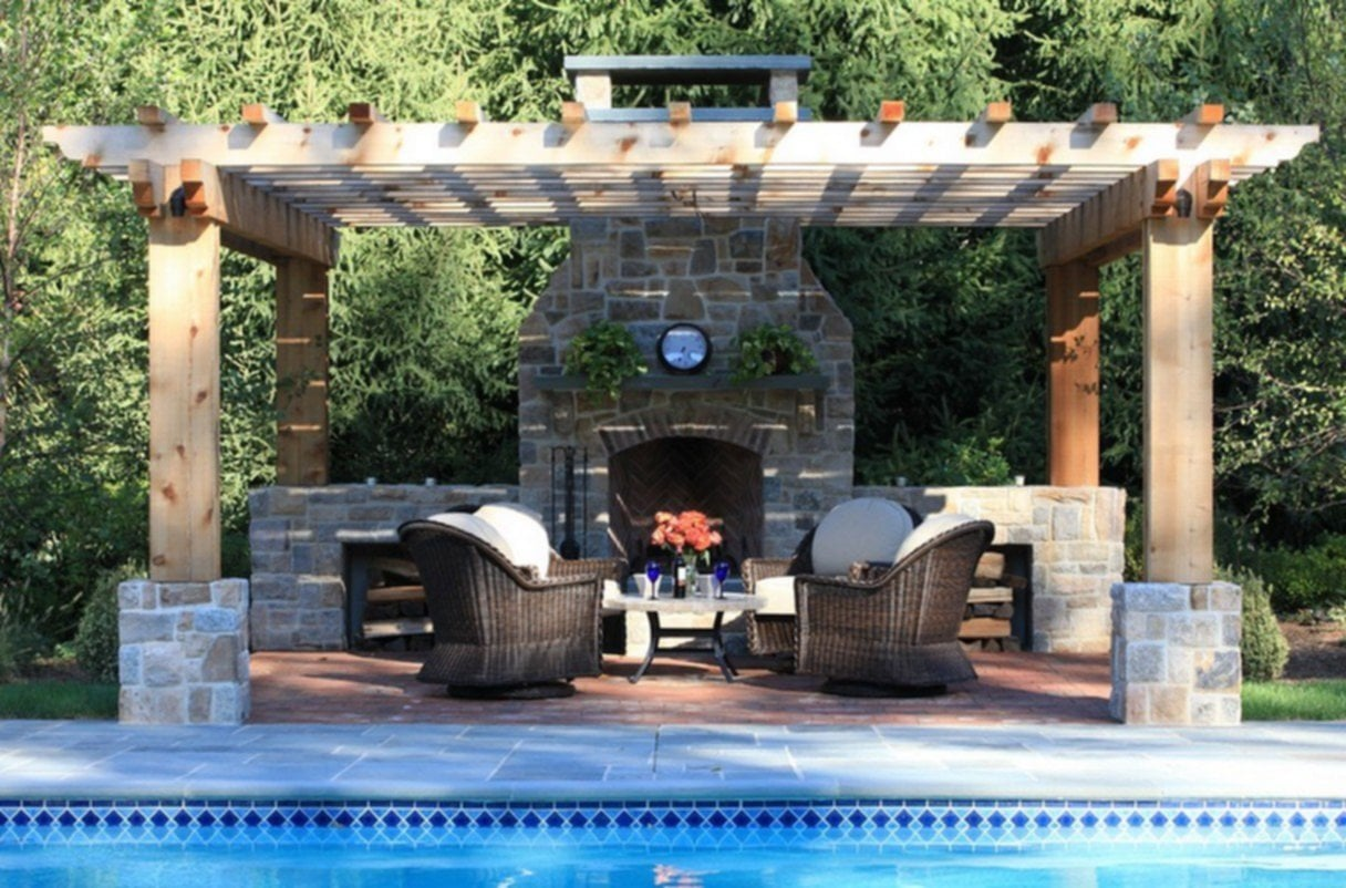 Outdoor Fireplace Kits Pool