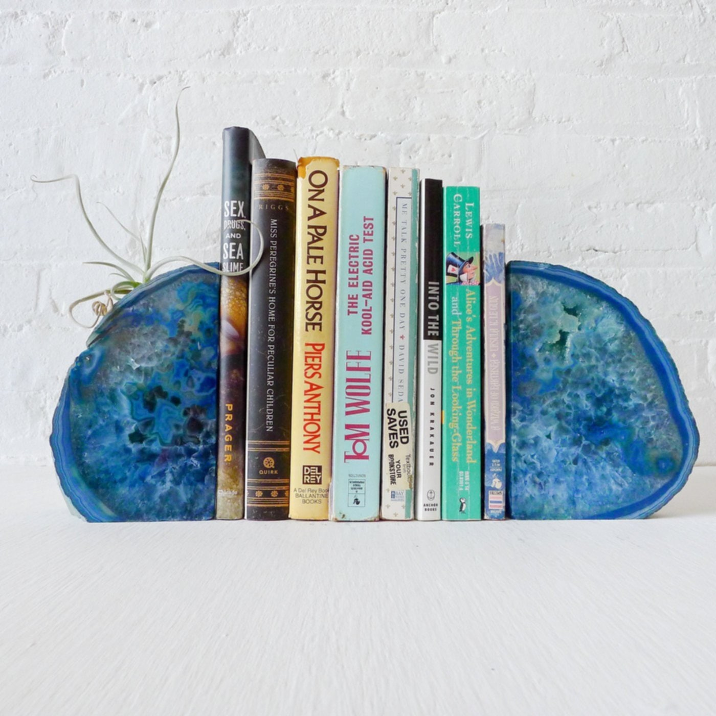 Blue Agate Bookends Image