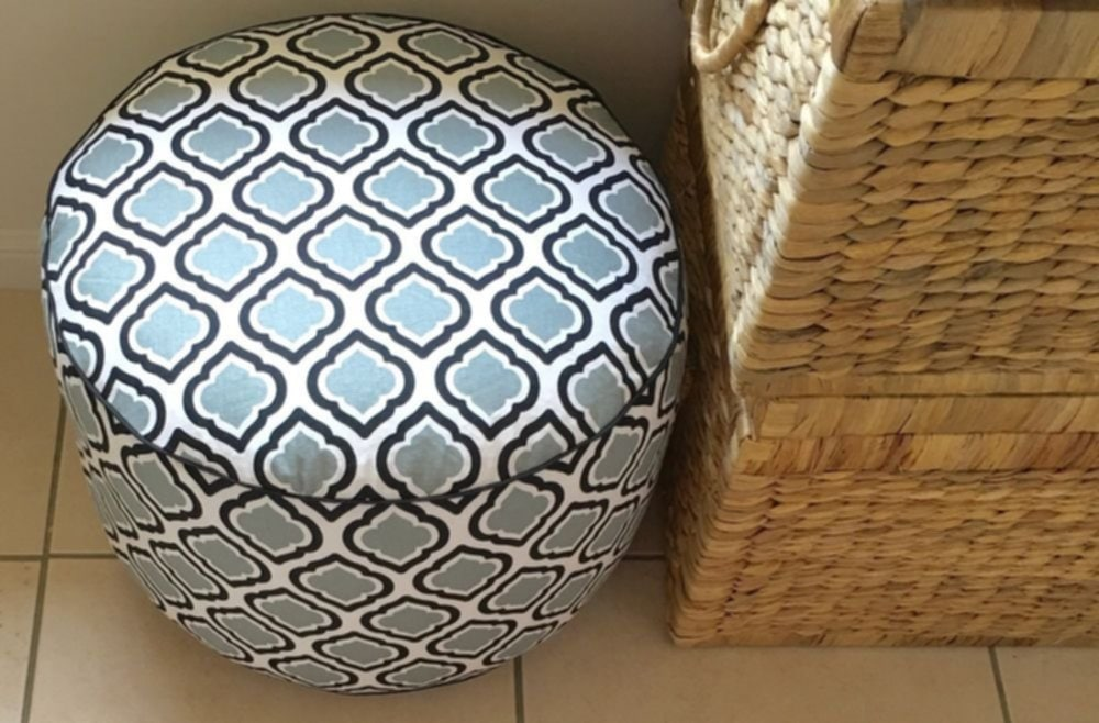Drum Moroccan Lattice Pouf Ottoman Floor Cushion Tips Design Outdoor Pouf Ottoman