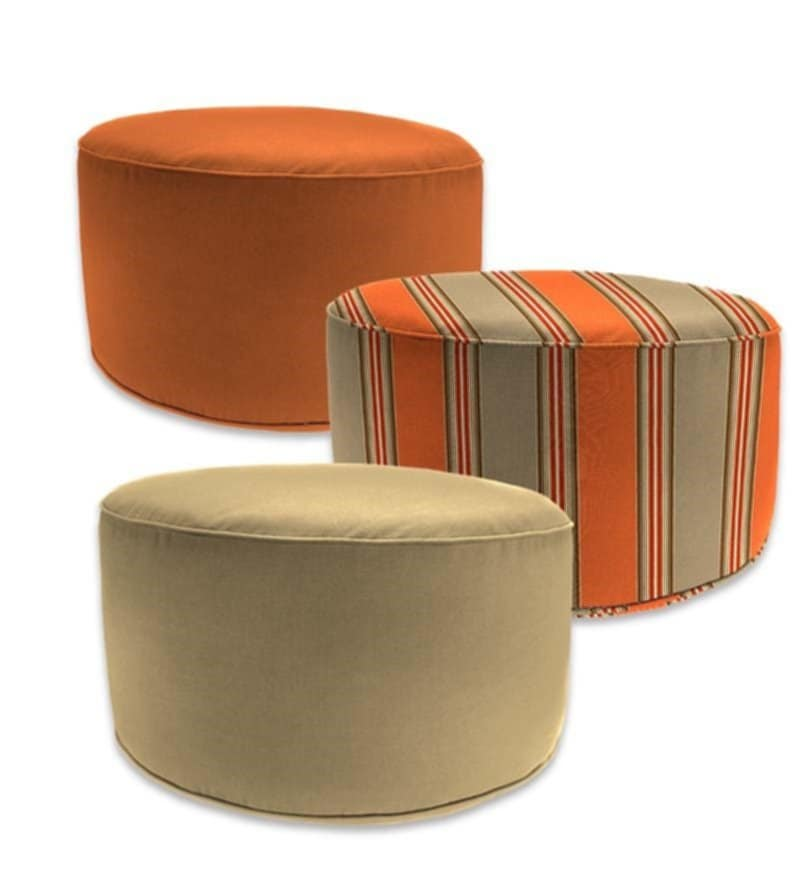 Outdoor Pouf Ottoman Cushion Bombay Outdoor Tangier Tips Design Outdoor Pouf Ottoman