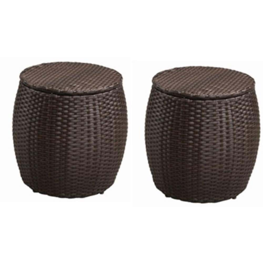 Resin Wicker Chair Ottoman Design Alcee Resin Wicker Tips Design Outdoor Pouf Ottoman