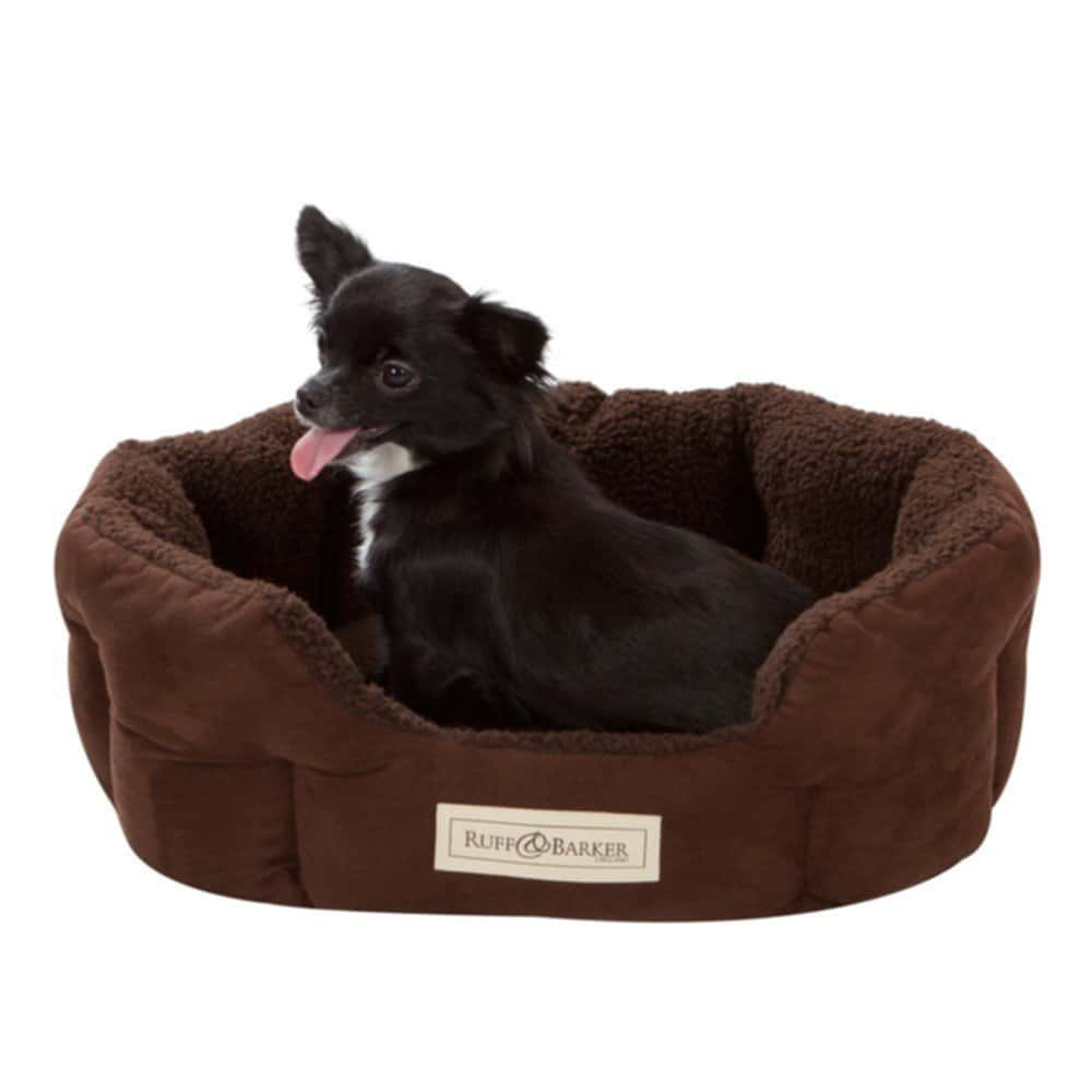 Ruff Barker Small Oval Dog Bed Brown Purely Dog Bed Best Faux Fur Bean Bag Chair