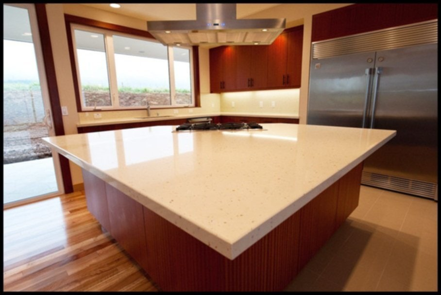 Solid White Quartz Countertops