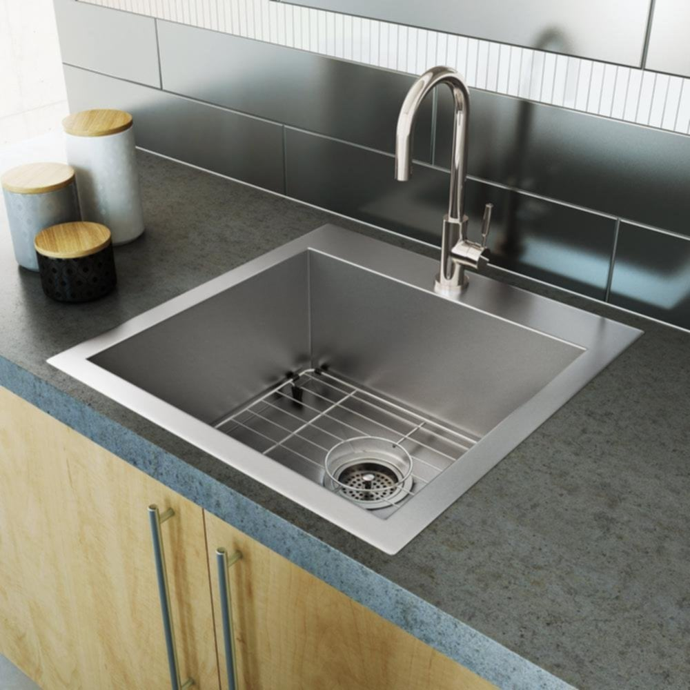 Stainless Steel Sink Single Bowl Square Corner Stainless Steel Kitchen Sinks