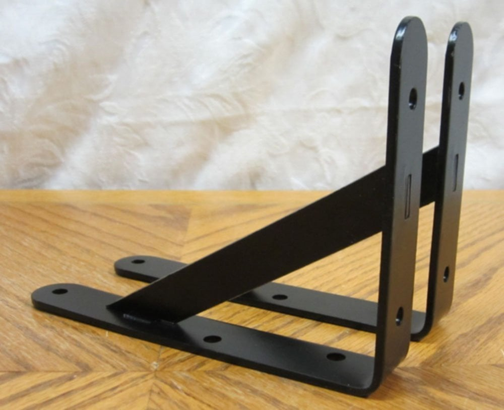 2 Black Extra Heavy Duty Steel 5 Quot 7 Quot Shelf Bracket Wooden Shelf Brackets Ideas
