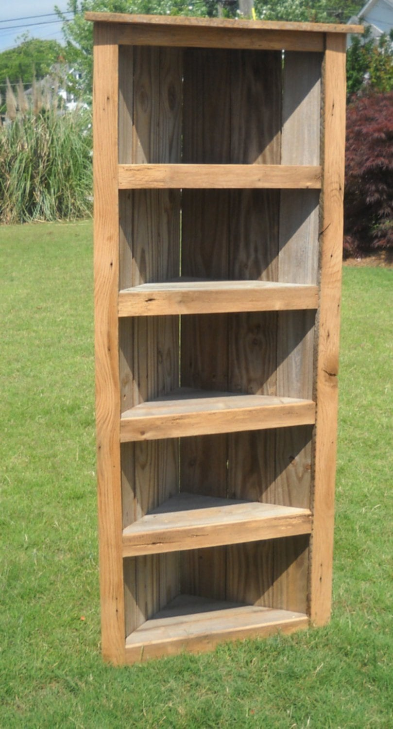 Barn Wood Bookcase Barn Wood Corner Bookcase Corner Wooden Shelf Brackets Ideas
