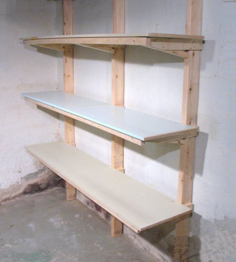Build Shelf Wooden Shelf Brackets Ideas