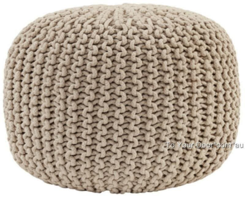 Knitted Gumball Ottoman Pouffe Foot Stool Pouf Footstool Knitted Pouf Ottoman