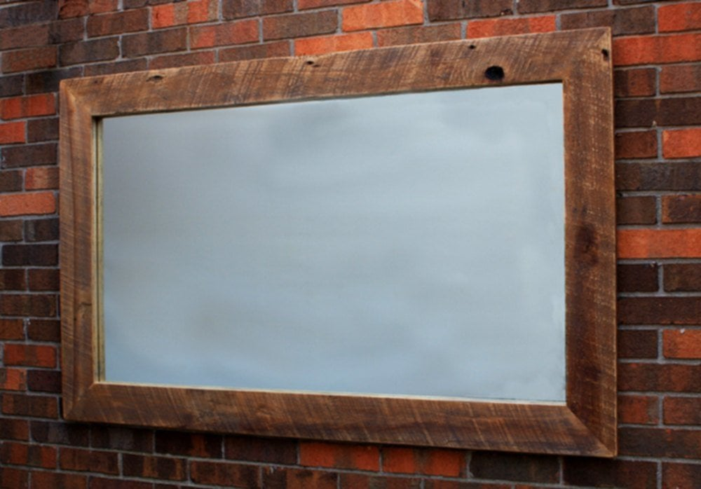 Simple Reclaimed Wood Mirror