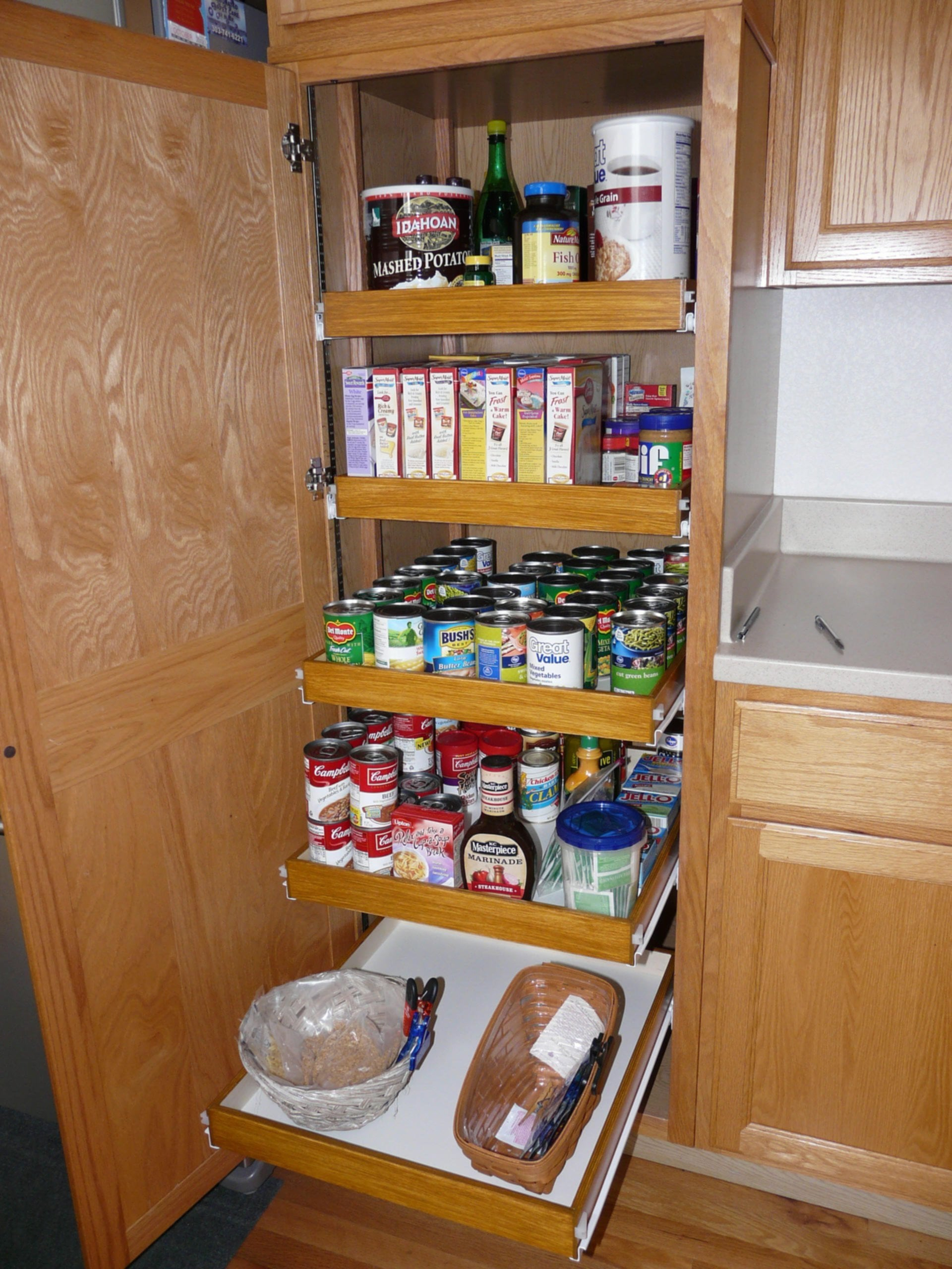 Small Pull Out Pantry Shelves