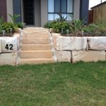 Step Affordable Boulder Wall Brisbane Retaining Wall Blocks
