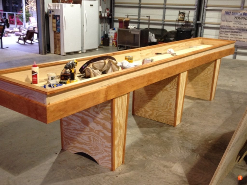 Vintage DIY Shuffleboard Table