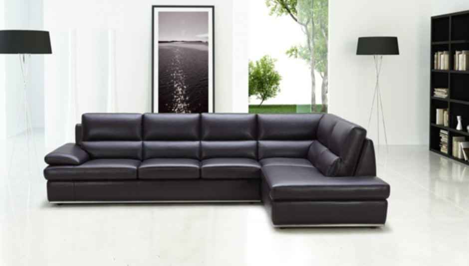 Black Leather Sectional Color