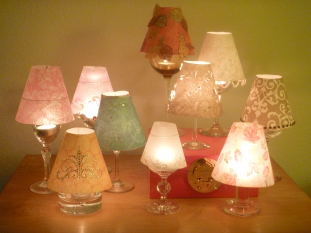 Wine Glass Lampshade Update Tamara Blog Making Glass Lamp Shades With Cord