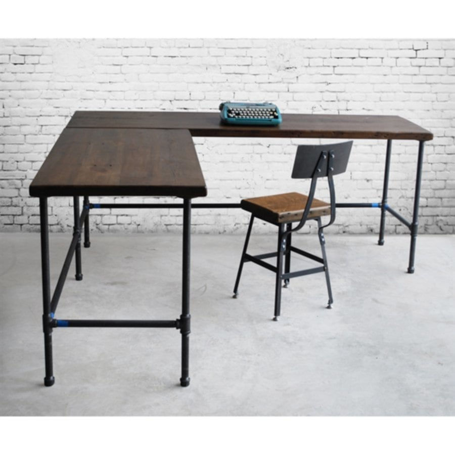 Wood L Shape Office Desk