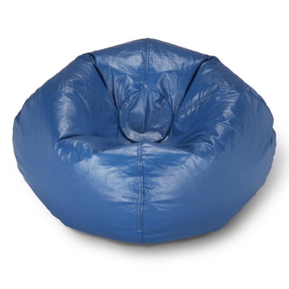 Ace Casual Furniture Blue Vinyl Bean Bag 9800201 Home Depot Vinyl Bean Bag Chairs Designs Ideas