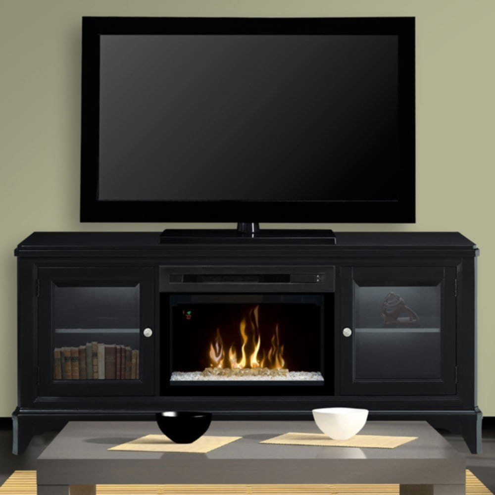 Black Electric Fireplace Entertainment Center Enterprise Fireplace TV Stand