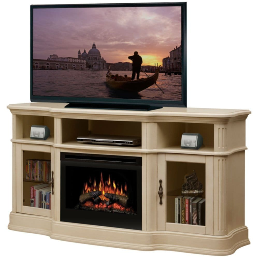 Dimplex Portobello Parchment Electric Fireplace Medium Fireplace TV Stand