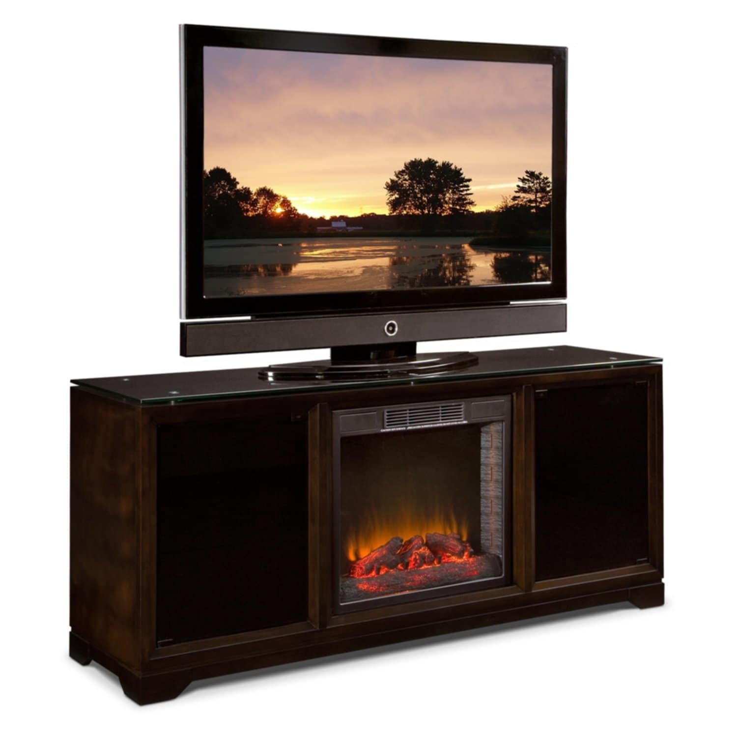 Electric Fireplace Tv Stand Walmart