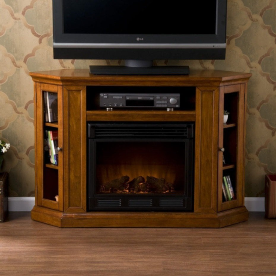 Fireplace Tv Stand With Glass Top